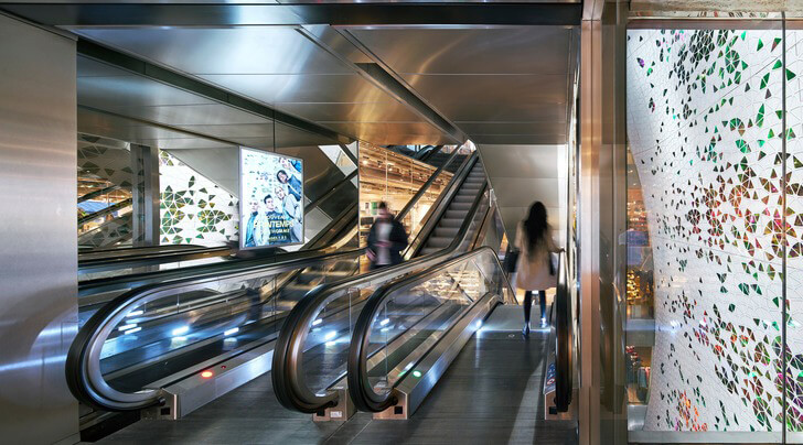 """printemps escalators uufie studio indiaartndesign"""