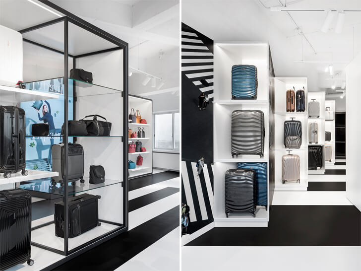 """display samsonite store i29architects indiaartndesign"""