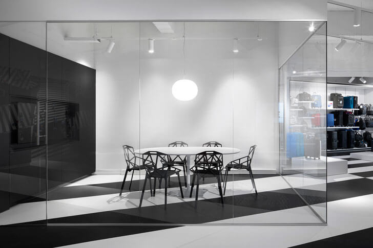 """meeting room samsonite store i29architects indiaartndesign"""