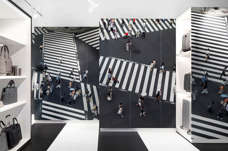 """street graphic on wall samsonite store i29architects indiaartndesign"""