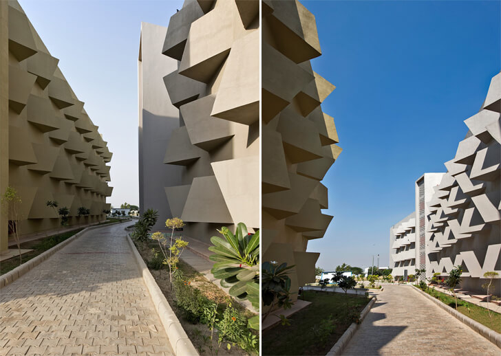 """GLA university hostel street typology sanjay puri architects indiaartndesign"""