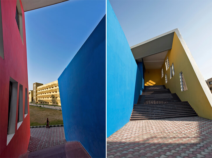 """bold use of colour the street sanjay puri architects indiaartndesign"""