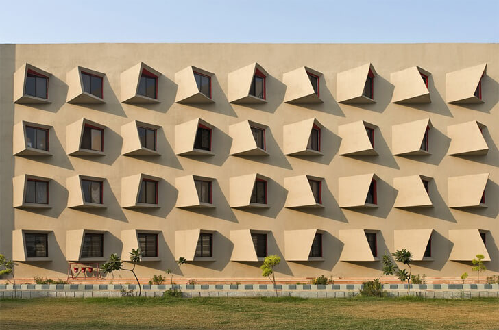 """wedge windows detail the street sanjay puri architects indiaartndesign"""