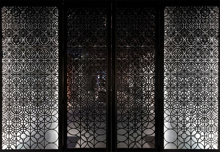 """contemporary mesh door the sanctuary sid lee architecture indiaartndesign"""