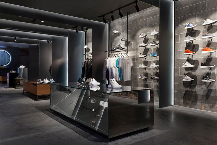 """display subdued lighting adidas sid lee architecture indiaartndesign"""