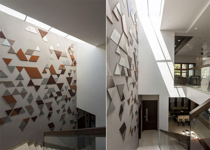 """staircase mural residence studio ardete indiaartndesign"""