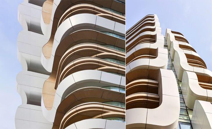 """""""balconies canaletto towers UNstudio indiaartndesign"""""""