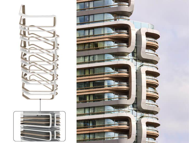 """""""balconies details canaletto towers UNstudio indiaartndesign"""""""