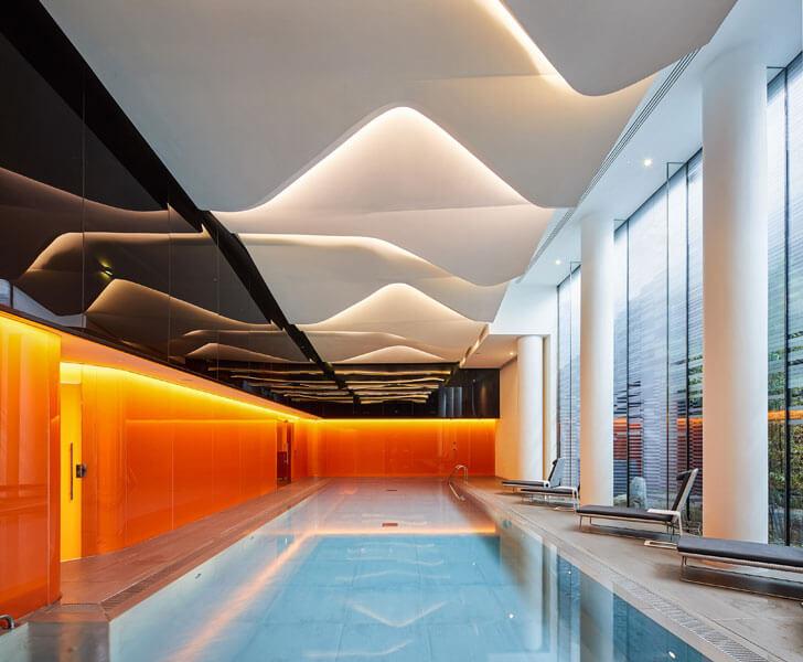 """""""indoor swimming pool canaletto towers UNstudio indiaartndesign"""""""