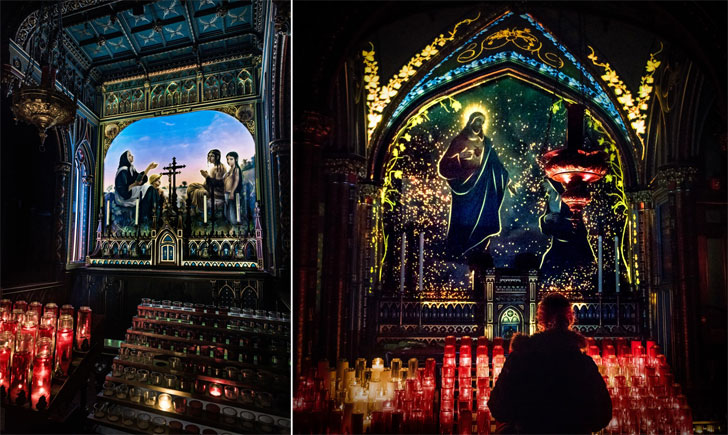 """notre dame basilica art moment factory indiaartndesign"""