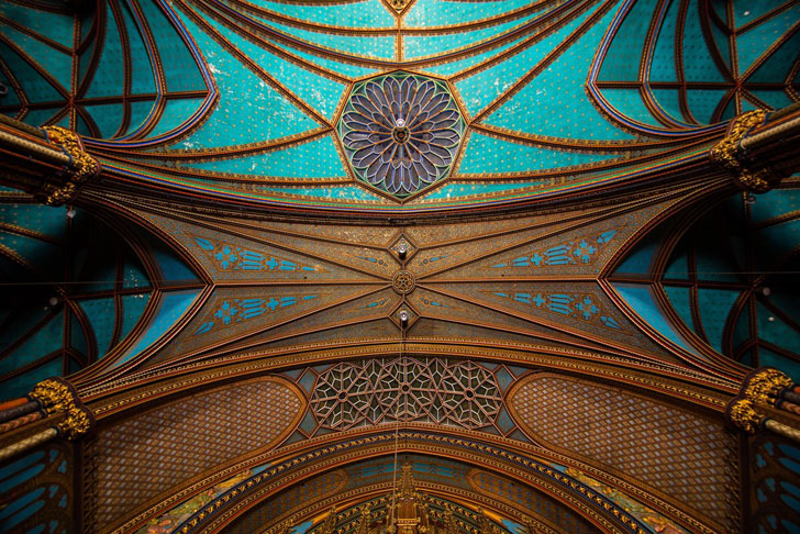 """notre dame basilica ceiling detail moment factory indiaartndesign"""