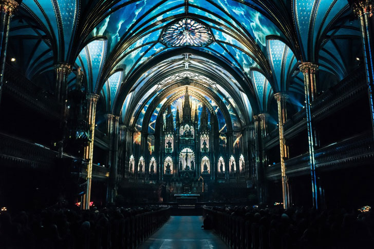 """notre dame basilica multimedia show moment factory indiaartndesign"""
