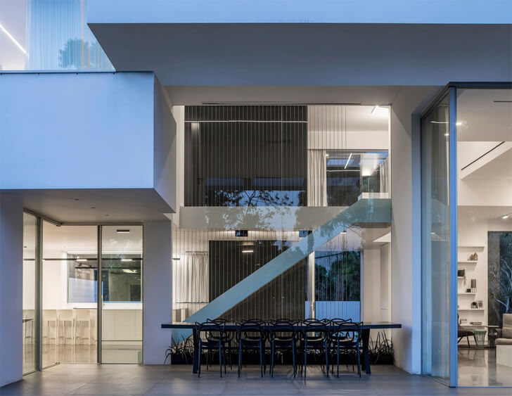 """defined geometry black core house axelrod architects indiaartndesign"""