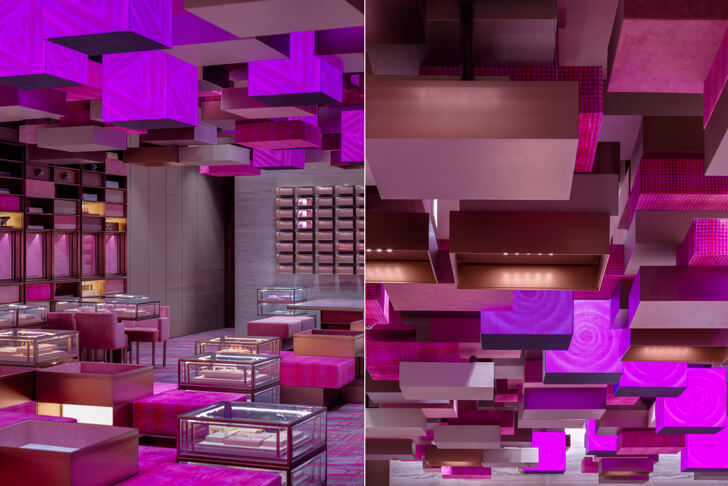 """gift boxes theme Chow Tai Fook One Plus Architects indiaartndesign"""