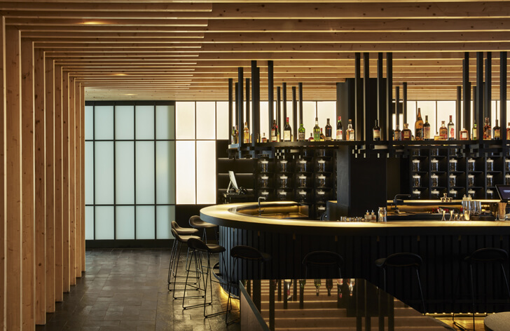 """bar area izakaya roomers hotel concrete indiaartndesign"""