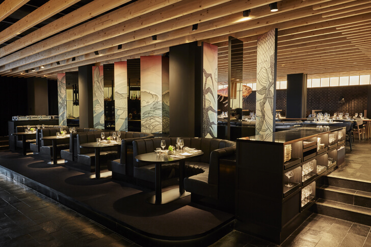 """split level izakaya roomers hotel concrete indiaartndesign"""