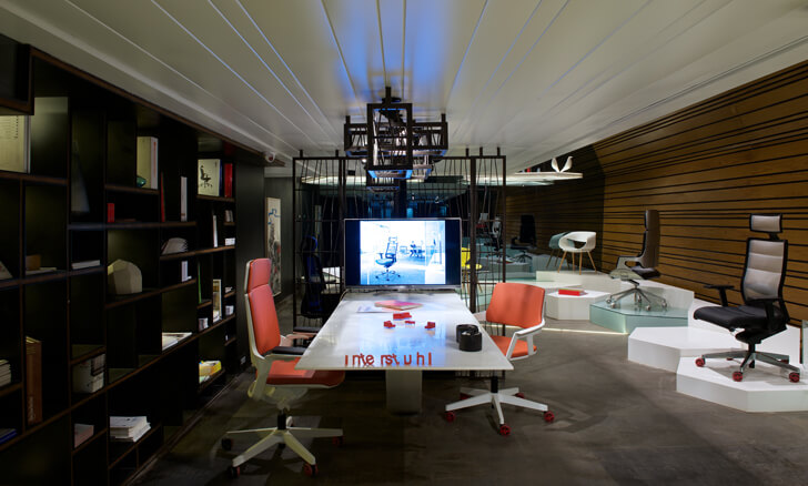 """discussion areas chair showroom KNS Architects indiaartndesign"""