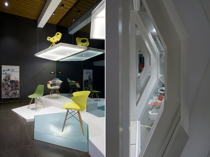 """symmetry chair showroom KNS Architects indiaartndesign"""