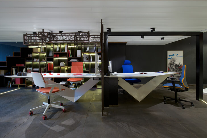 """workstations chair showroom KNS Architects indiaartndesign"""