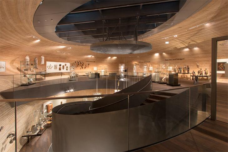 """wooden interiors paneum coop himmelblau indiaartndesign"""