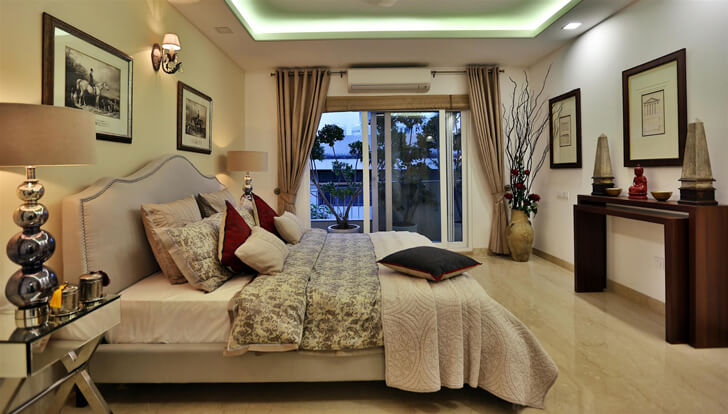 """luxurious bedroom TCS Architects indiaartndesign"""