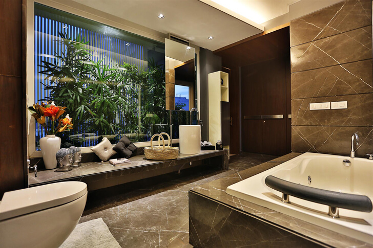 """luxurious bathroom TCS Architects indiaartndesign"""