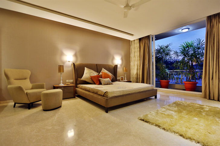 """spacious bedroom TCS Architects indiaartndesign"""