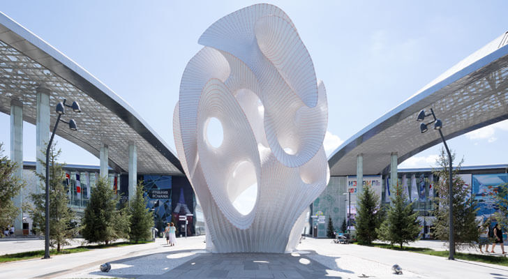 """Marc-Fornes theverymany installation world expo 2017 indiaartndesign"""