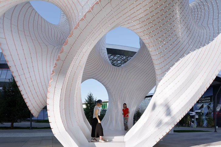 """self supporting structure Marc-Fornes theverymany installation indiaartndesign"""