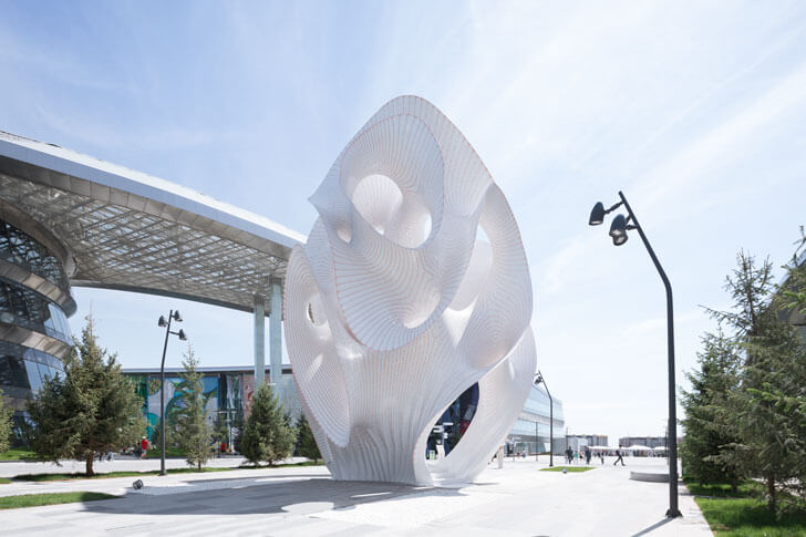 """ultra thin Marc-Fornes theverymany installation indiaartndesign"""