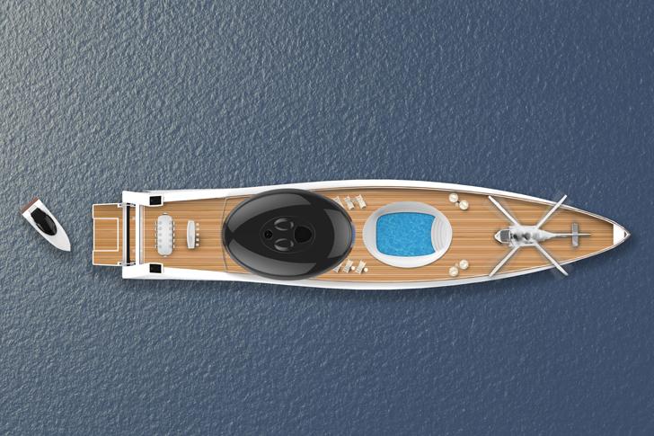 """""""helipad electric yacht EauTjep indiaartndesign"""""""