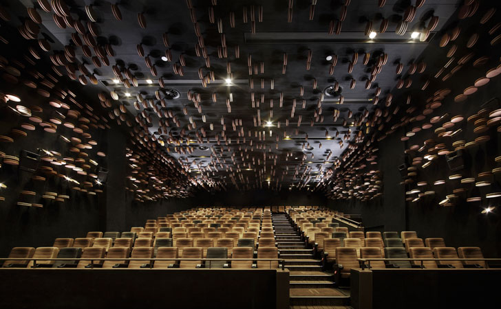 """auditorium wuhan wushang cinema one plus partnership indiaartndesign"""
