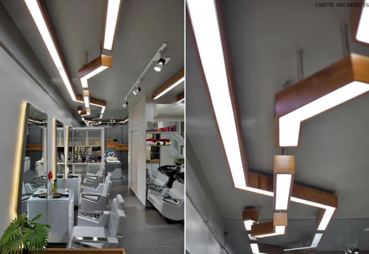 """lighting design salon parth chitte indiaartndesign"""