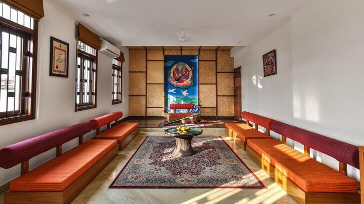 """baithak surajkund residence studio wood indiaartndesign"""