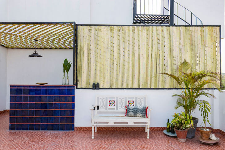 """bar on terrace surajkund residence studio wood indiaartndesign"""