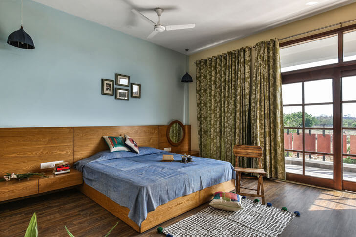 """bedroom surajkund residence studio wood indiaartndesign"""