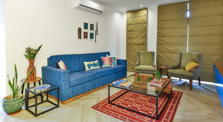"""living area surajkund residence studio wood indiaartndesign"""