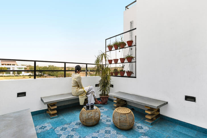 """terrace surajkund residence studio wood indiaartndesign"""