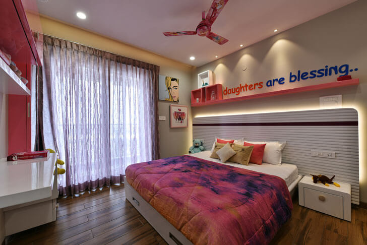 """pink bedroom thinkdesignerz indiaartndesign"""