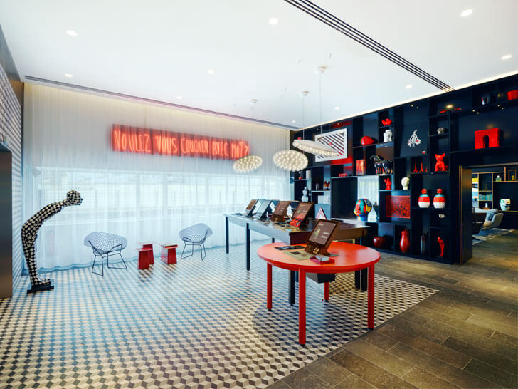 """brand language citizenM Paris concrete architecture indiaartndesign"""