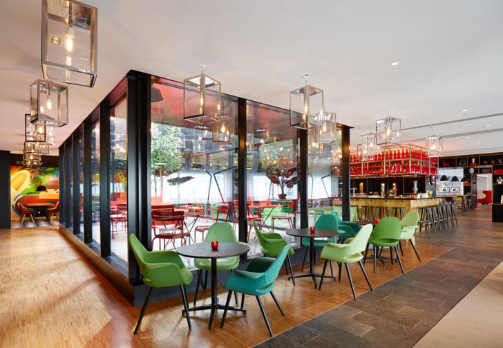 """eclectic style citizenM Paris concrete architecture indiaartndesign"""