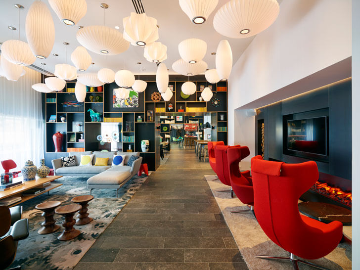 """signature furniture citizenM Paris concrete architecture indiaartndesign"""