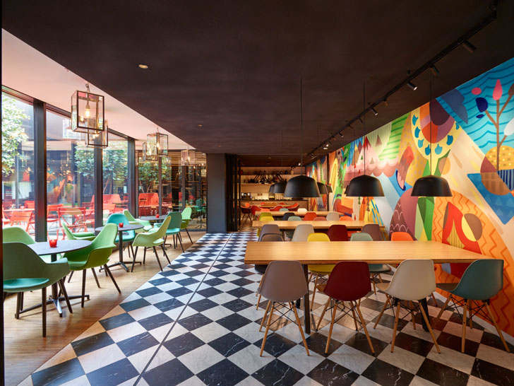 """signature walls citizenM Paris concrete architecture indiaartndesign"""