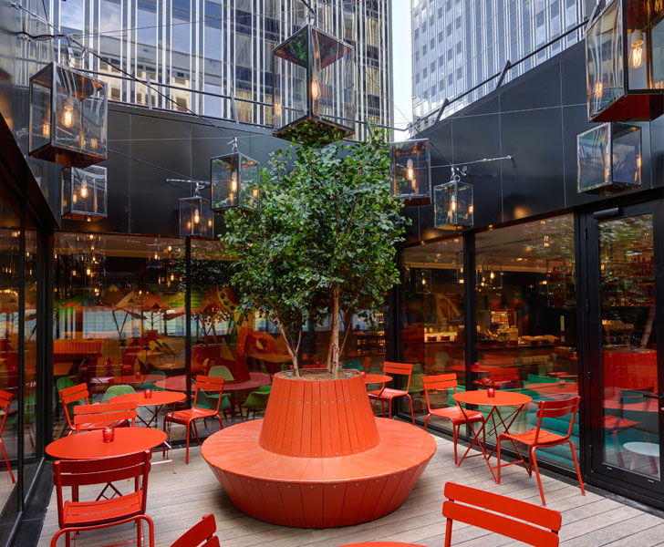"""terrace restaurant citizenM Paris concrete architecture indiaartndesign"""