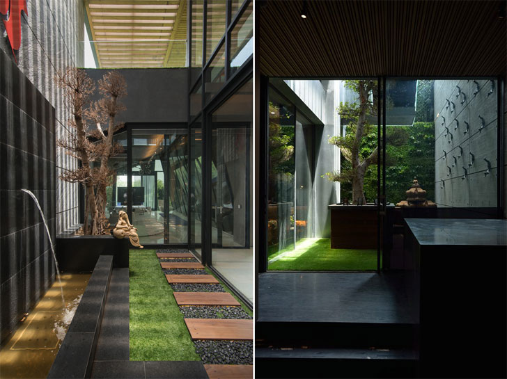"""courtyard luxurious home atrey and associates indiaartndesign"""