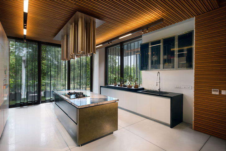 """island kitchen luxurious home atrey and associates indiaartndesign"""