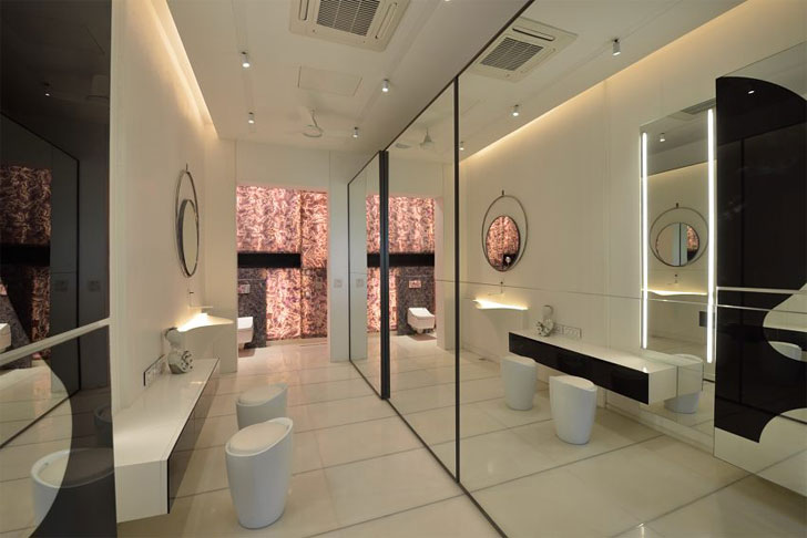 """white bathroom luxurious home atrey and associates indiaartndesign"""