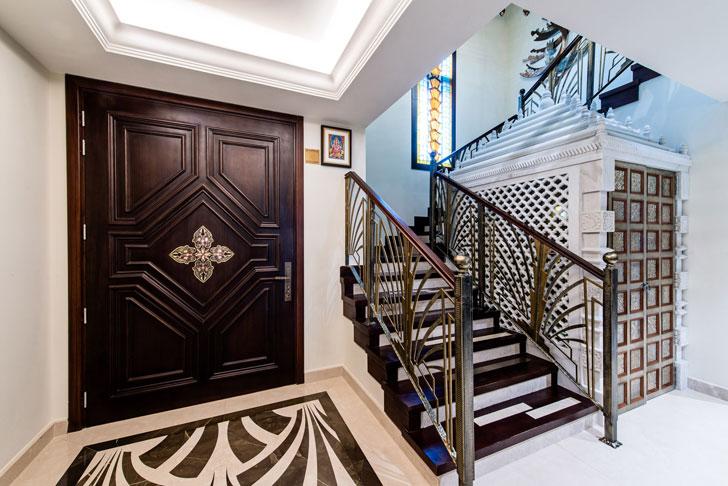 """grand staircase dubai villa sumessh menon indiaartndesign"""