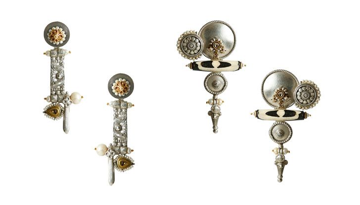 """Lara Morakhia reimagined jewellery antique silver jadtar gold indiaartndesign"""