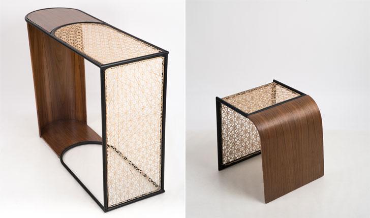 """""""Gingham series studio wood milan design week indiaartndesign"""""""